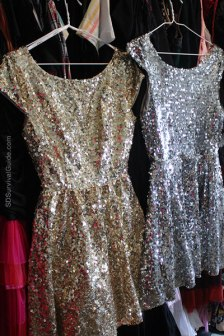 Everyone is your friend when you wear these sparkle dresses to the club.