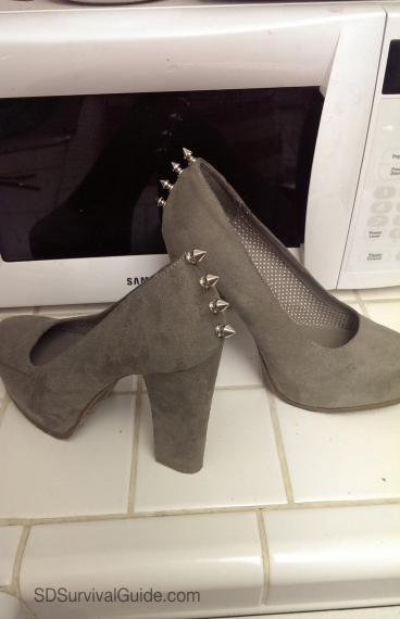 candies-suede-spike-gray-heels-DIY