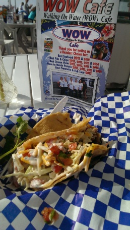 Or just pictures of half eaten tacos. By the way, this was a stunning fish taco. (OB Pier)