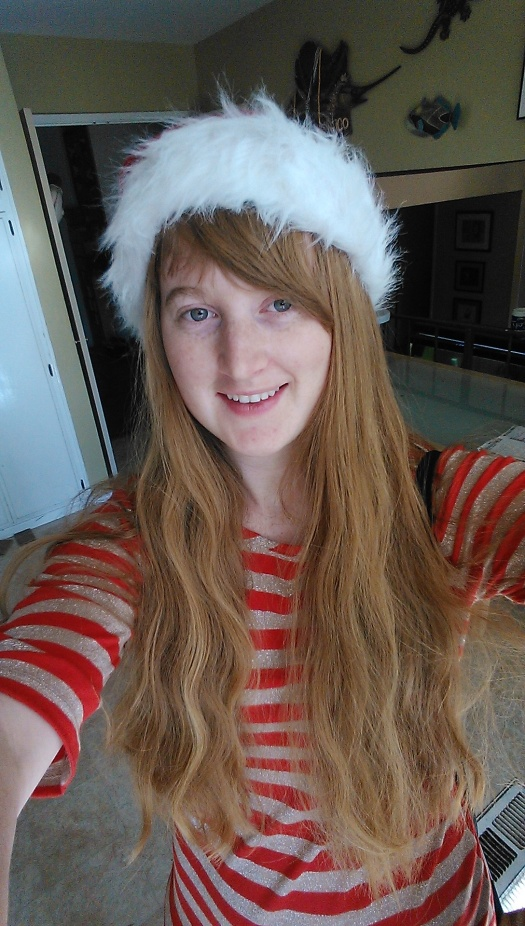 My friend Katie says I need to take more selfies, so here's a particularly festive one. Enjoy (what's left of) your holiday!