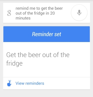 Beer fridge reminder