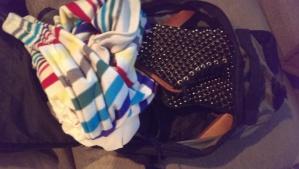 Packing priorities: 50% necessities, 50% shoes