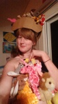 Yes I am wearing a bunch of beanie babies I hot glued together as a garment.