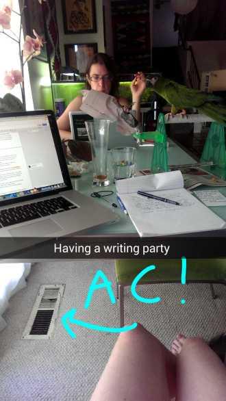 Writing party