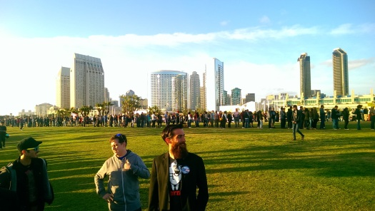 bernie sandiers line san diego 2016 convention center